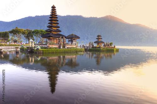 Aluminium Prints Indonesia Pura Ulun Danu Bratan, Hindu temple on Bratan lake, Bali, Indonesia