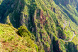 Picturesque and majestic green mountains of Madeira, Portugal