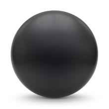 Sphere Round Button Black Matt...