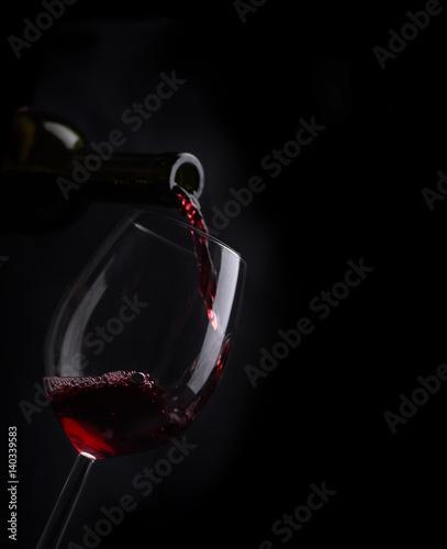 Obraz na plátně Wine list design
