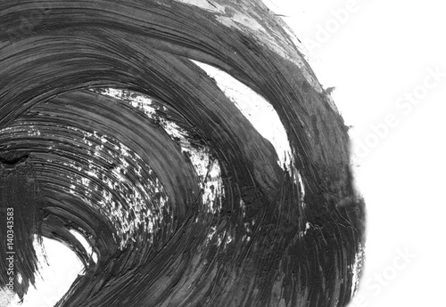Abstract ink background  Marble style  Black and white paint