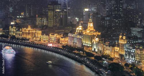City Night View of The Bund in Shanghai