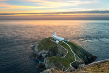 South Stack Lighthouse On Holy...