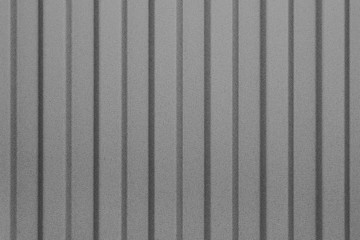 Gray corrugated sheet of metal . Pattern, abstract background.