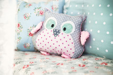 Toy Owl On The Couch