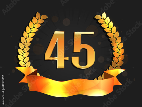 Photographie  Forty five years anniversary celebration logotype