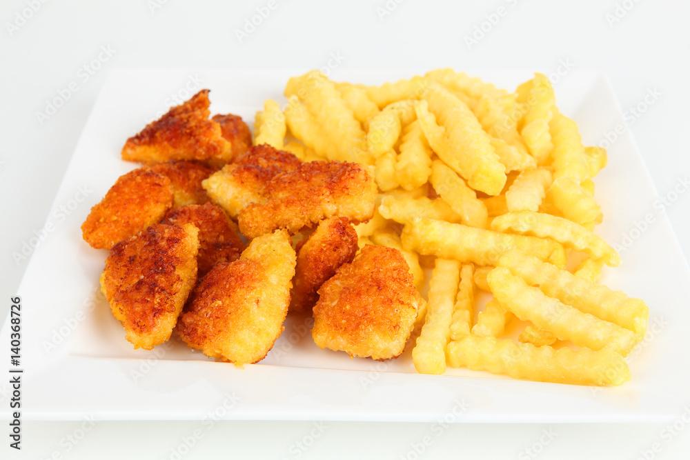 Pommes und Chicken Nuggets Poster, Plakat   3+1 GRATIS bei Europosters