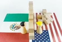Mauerbau Zwischen USA Und Mexiko