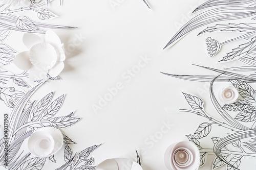 rama-z-3d-papierowymi-kwiatami-z-malujacym