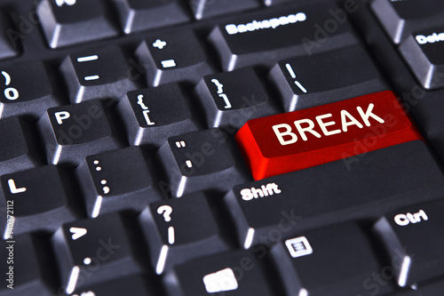 Red button with text of break Canvas Print