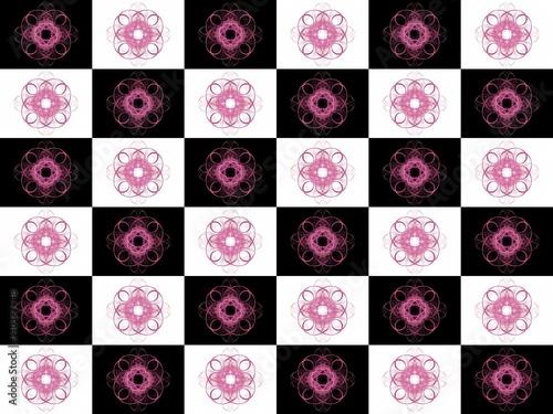 Photo sur Aluminium Art abstrait Texture with 3D rendering abstract fractal purple pattern