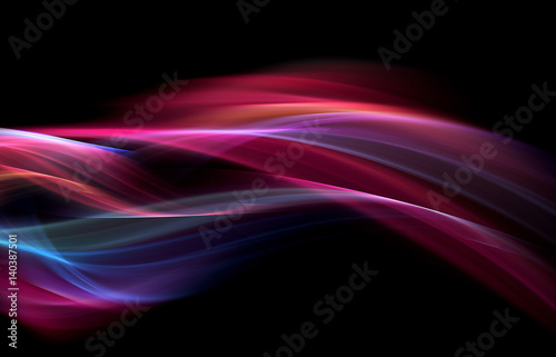 Fotobehang Fractal waves Luxury abstract design
