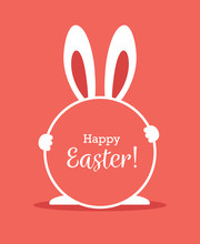 Easter Greeting Card With Roun...