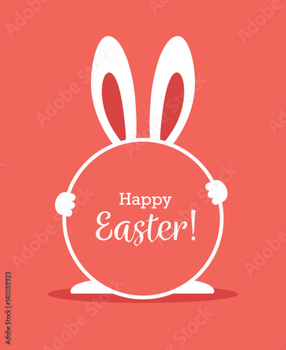 Easter greeting card with r...