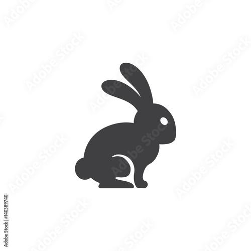 Obraz na plátne hare icon on the white background
