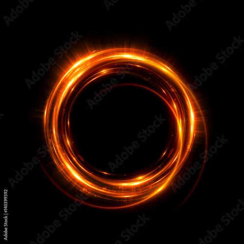 Streszczenie tło neon. świetliste wirowanie. Świecąca spiralna osłona. Czarny elegancki. Halo wokół. Moc izolowana. Iskra cząsteczki. Tunel kosmiczny. Błyszcząca meduza. Kolorowa elipsa LED. Brokatowy blask