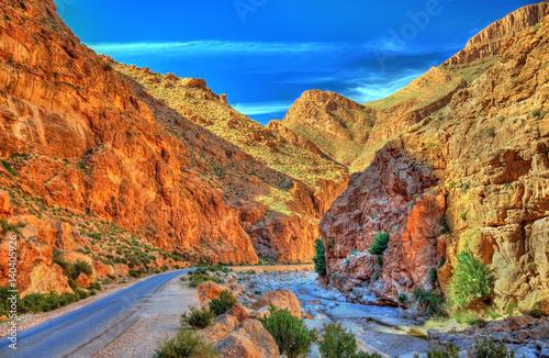 Photo Todgha Gorge, a canyon in the Atlas Mountains. Morocco