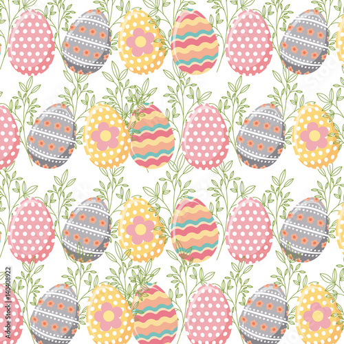 background-with-easter-eggs-colorful-design-vector