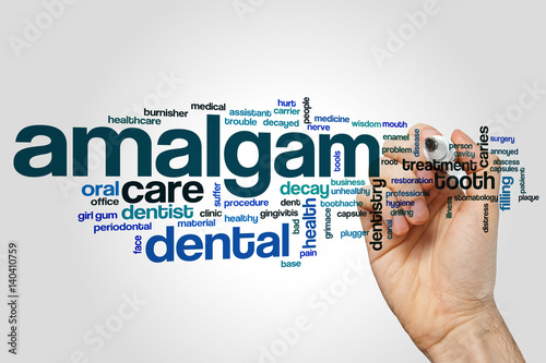Amalgam word cloud Wallpaper Mural