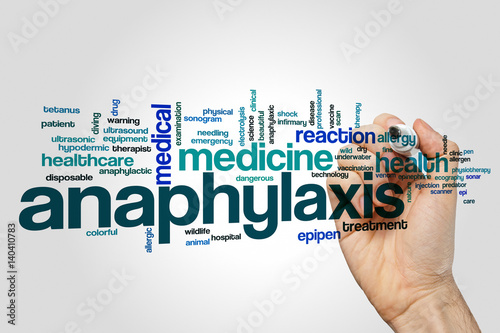 Canvas Print Anaphylaxis word cloud