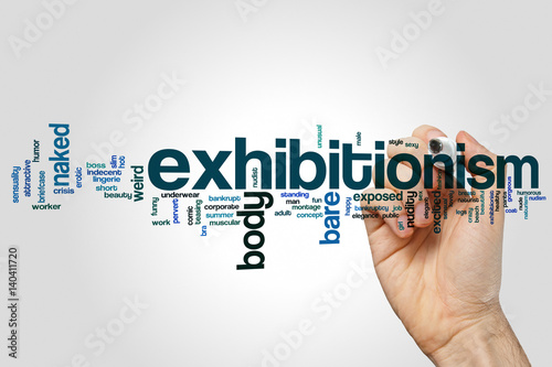 Photo  Exhibitionism word cloud concept