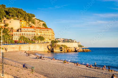 Fotografie, Obraz  Coastline in Nice, Cote d'Azur, French Riviera, France
