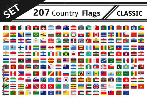 set 207 country flag Canvas-taulu