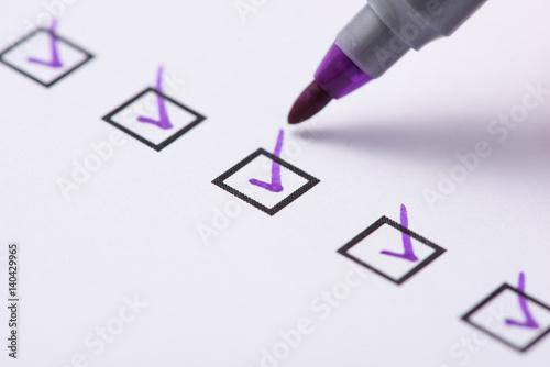 Fotografie, Obraz  Checkbox with purple tick