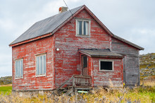Weathered Old Wooden Country House In Need Of Repair