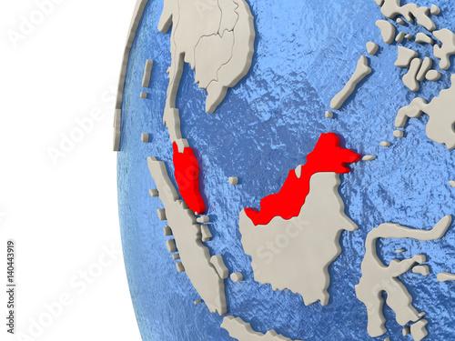 Printed kitchen splashbacks Fairytale World Malaysia on 3D globe