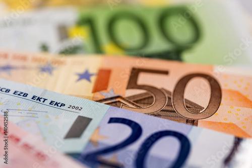Fotomural Viele verschiedene Euro-Geldscheine