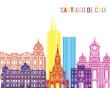 Santiago de Cali skyline pop