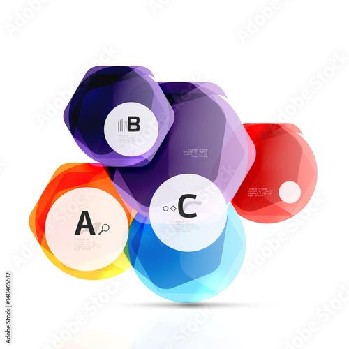 Poster Geometrische dieren Abstract geometrical hexagon banner