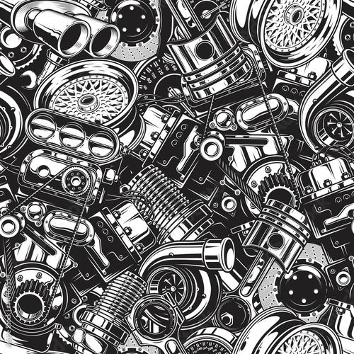 samochodowe-czesci-samochodowe-wzor-z-monochromatyczne-czarno-biale-elementy-tla