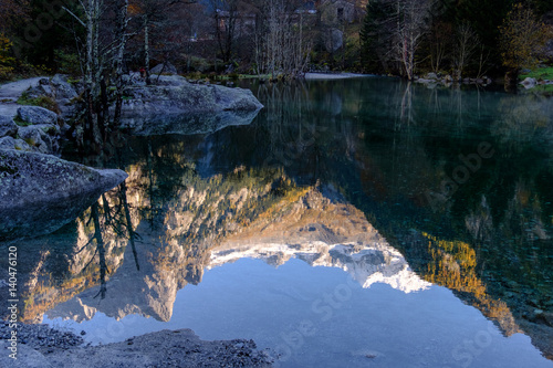 Riflessi in val di Mello Canvas Print