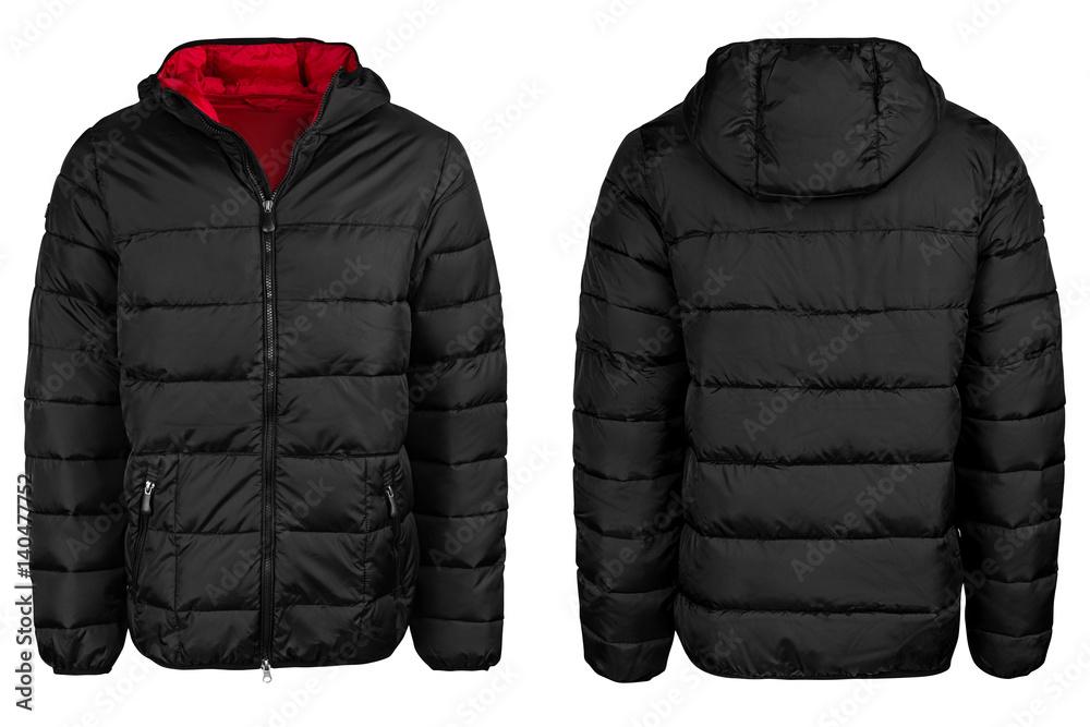 Fototapeta Black jacket with a hood