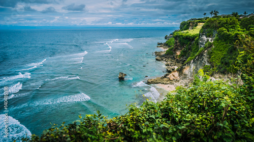 Photo  Rock on Impossible Beach in Evening Light, luxus cottage on the hill, Bali Indon