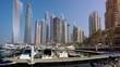 Luxury Boats Docked at the Pier in Dubai's Urban harbor