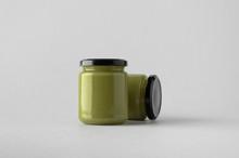 Pumpkin / Hemp Seed Butter Jar Mock-Up - Two Jars