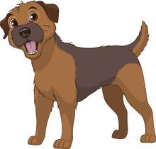 Funny Purebred Border Terrier
