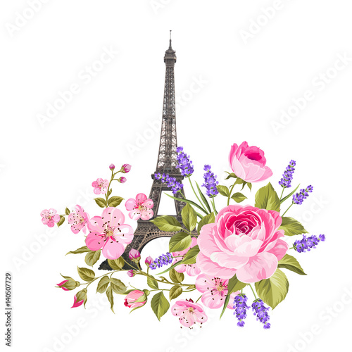Платно The Eiffel tower card