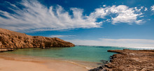 Hidden Cove, Lost Sandy Bay With Blue Turquoise Water In Ras Muhammad National Park In Sinai Egypt