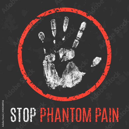 Photo  Vector illustration. The medical diagnosis. Stop phantom pain.