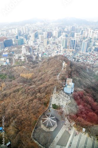 Seoul city skyline Poster