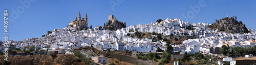 Overview of the town of Olvera, in the province of Cadiz, Spain