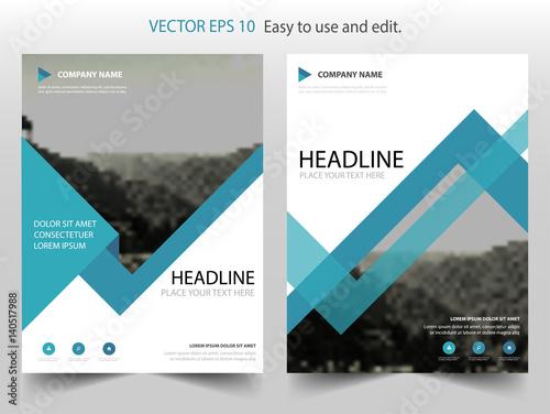 Blue Triangle Vector Business Proposal Leaflet Brochure Flyer