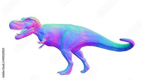 Fotobehang Draw colorful Tyrannosaurus rex, anatomically correct T-rex dinosaur from the Jurassic period
