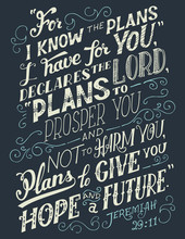 For I Know The Plans I Have Fo...