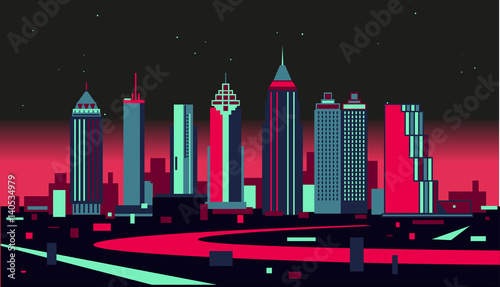 Plakat Atlanta skyline