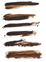 Brown Grunge Brush Strokes Oi...